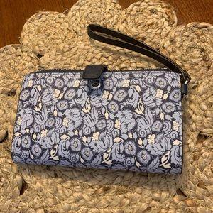 MK Michael Kors floral wristlet wallet holds cell